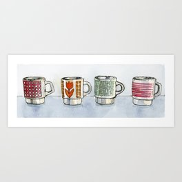 Set of 4 Mugs Art Print