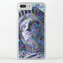 Lady Liberty Clear iPhone Case
