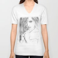 emma stone V-neck T-shirts featuring Emma by S'ANNie