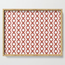 Retro-Delight - Conjoined Circles - Coral Serving Tray