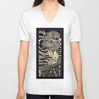 geisha V-neck T-shirts featuring Geisha by Mario Sayavedra