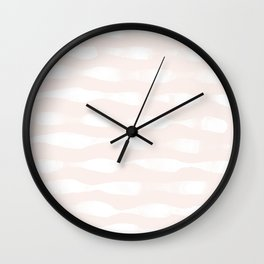 wavy lines soft Wall Clock