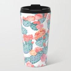 PRICKLY PURPLE, pattern by Frank-Joseph Metal Travel Mug