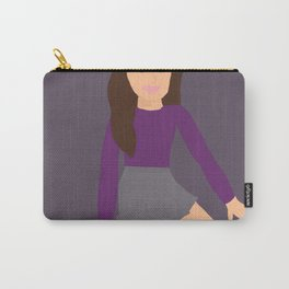 girl with the violet top Carry-All Pouch