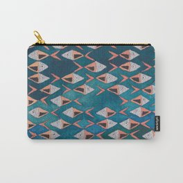 School of Fish Pattern Carry-All Pouch