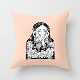 cry me a garden Throw Pillow
