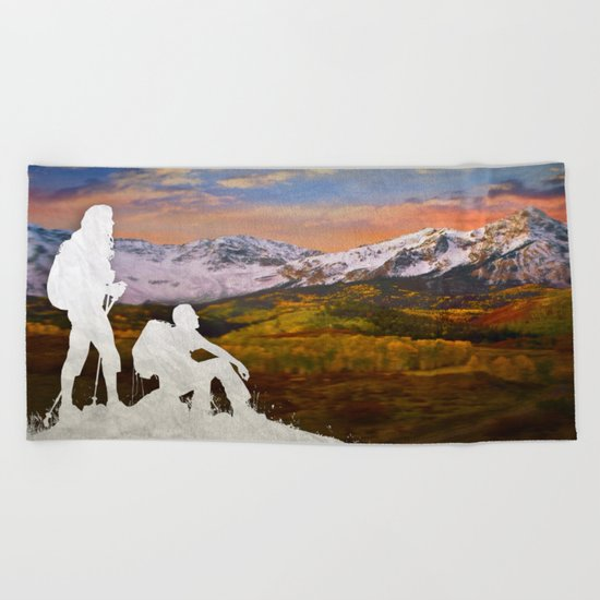 Autumn Hike Beach Towel