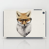 hipster iPad Cases featuring Mr. Fox by Isaiah K. Stephens