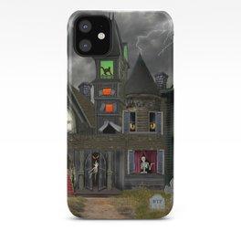 Halloween Haunted Mansion iPhone Case