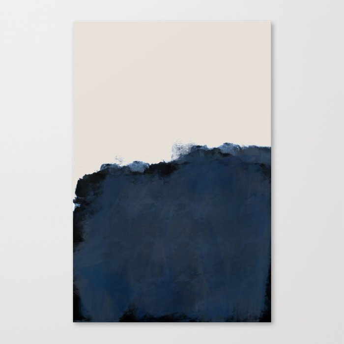 Abstract, blue, beige, indigo Leinwanddruck