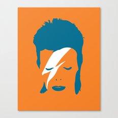 Ziggy Stardust - Orange Canvas Print