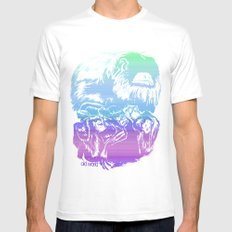 Monkeys in living Color Mens Fitted Tee MEDIUM White