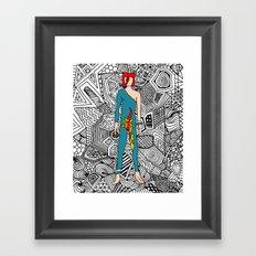 Bowie Fashion 8 Framed Art Print