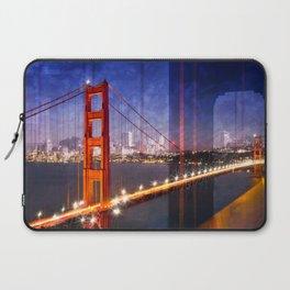 City Art Golden Gate Bridge Composing Laptop Sleeve