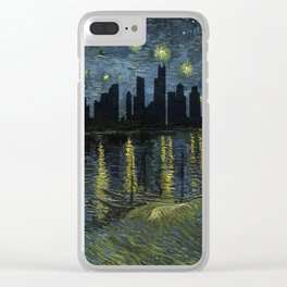 Chicago Skyline 13 Clear iPhone Case