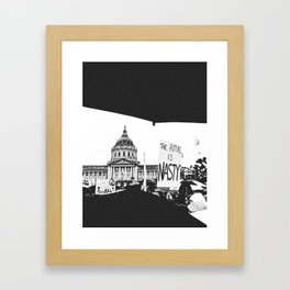 The Future is Nasty - The Women's March on San Francisco Framed Art Print