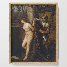 John Everett Millais - The Knight Errant Serving Tray