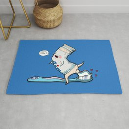 Open Wide! Funny Toothbrush Toothpaste Rug