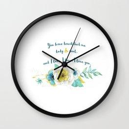 Pride and Prejudice, Jane Austen Wall Clock