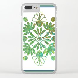 Hand Drawn Pattern Clear iPhone Case