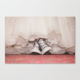 HER SHOES Canvas Print