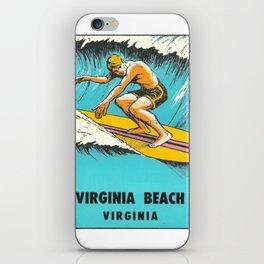 Virginia Beach Retro Vintage Surfer iPhone Skin