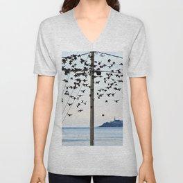 Birds in Flight Unisex V-Neck