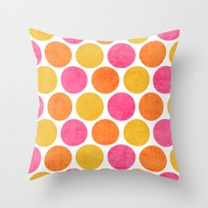 summer polka dots Throw Pillow