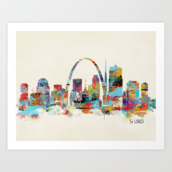 saint louis missouri skyline Art Print