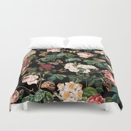 Floral and Butterflies Duvet Cover