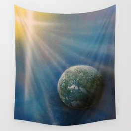Sun Cross Earth Space Spray Paint Wall Tapestry