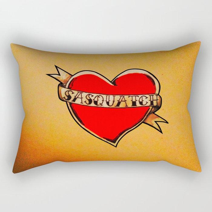 My Heart Belongs to Sasquatch Rectangular Pillow
