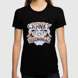 Men Women Owl Insomniac Sleep Disorder graphic T-shirt