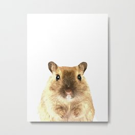 Hamster Portrait Metal Print