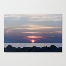 the sunset Canvas Print