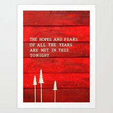 Hopes and Fears Art Print