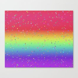 Rainbow Fairy Kei Pattern Canvas Print