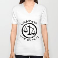 divergent V-neck T-shirts featuring Divergent - Candor The Honest by Lunil