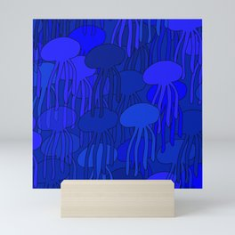 Jellyfish Blue Mini Art Print