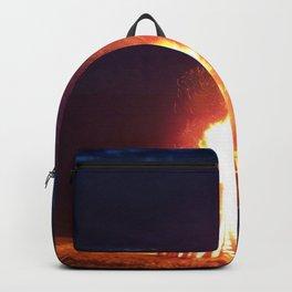 Blazing Beach Bonfire Backpack