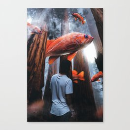 Goldfish in the forest by GEN Z Canvas Print