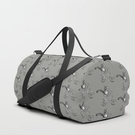 Ride On Chipmunk_grey Duffle Bag