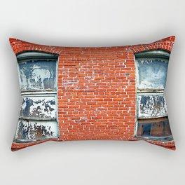 Old Windows Bricks Rectangular Pillow