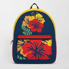 Vintage Hawaiian Tropical Flowers Backpack