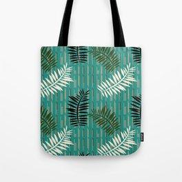 Ferns on Jade Tote Bag