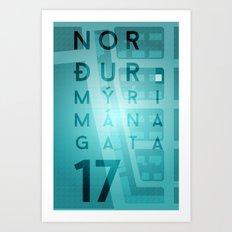 Norðurmýri Art Print
