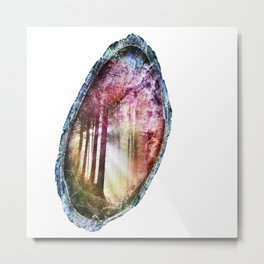 Forest Geode 549 Metal Print