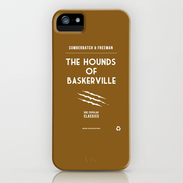 BBC Sherlock The Hounds of Baskerville Minimalist Poster iPhone Case
