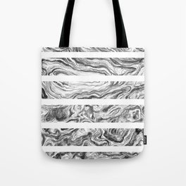 Point Lobos Stone- Stripes Tote Bag