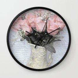 Love Silently - Flower Art Wall Clock